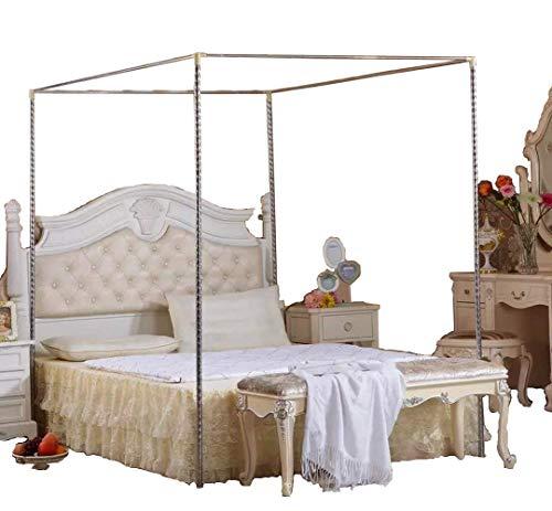 Kingkara Canopy Bed Netting Stainless Steel Frame Post Full Queen Size
