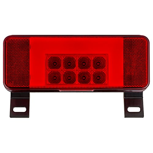Lumitronics LED RV combination tail light, driver side with license illuminator, black base - A Durable, Replacement For Any Trailer