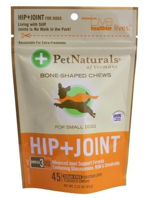 "Brand New PET NATURALS OF VERMONT - HIP & JOINT (SMALL DOG 45CT) ""DOG PRODUCTS - DOG HEALTH - VITAMINS & SUPP"""
