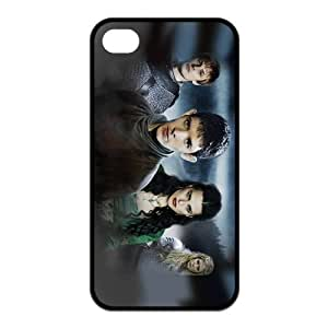 New Style Merlin Design TPU Cases Back Cover (Black, White) For Iphone 4 4s