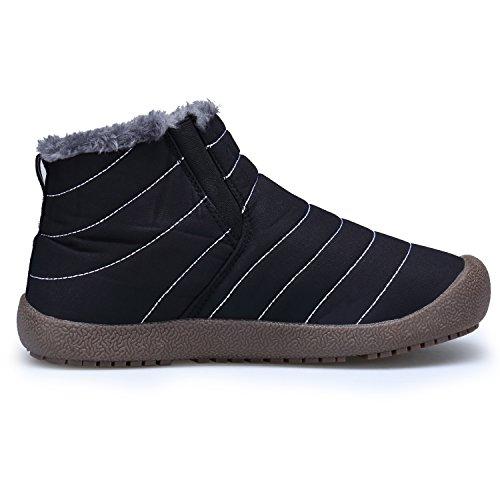 Scarp Stivaletti Stivali DENGBOSN Impermeabile da Nero colloalto Neve Piatto Donna Inverno Boots Stivali Pelliccia EEC6wR8q