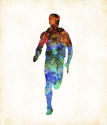 Cross Country Track Male Runner #2 Watercolor Art Print by Dan Morris ()