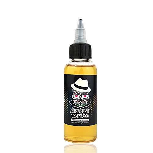 (OPHIR 60ml/bottle Airbrush Temporary Tattoo Ink Pigment Finalized Ink Clear Top Coat)