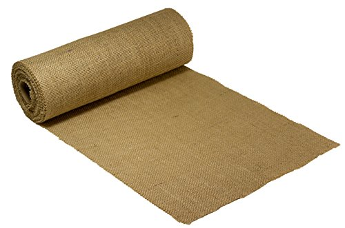 Burlapper Burlap Table Runner Fabric Roll, 12 Inch x 10 Yards, Premium Heavyweight Natural Jute for Weddings, Baby Showers, Parties, Arts and Crafts, Lawn and Garden (Made in USA) -