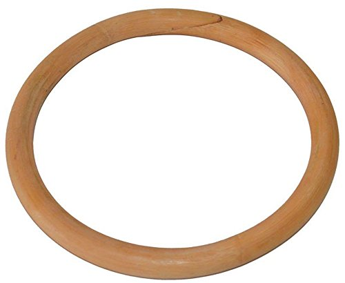 YEESAM Deluxe Wing Chun Training Ring - Bamboo Rattan / Stainless Ring Yongchun Yewen Sau Sticky Hand Leg Strength Training Tsun Siu Lum Kung Fu Rings Taiji (Rattan Ring, 215 mm)