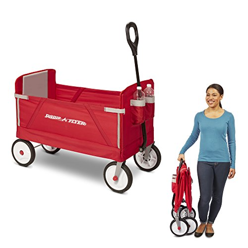 41r2Vpb8wWL - Radio Flyer 3-in-1 EZ Folding Wagon for kids and cargo