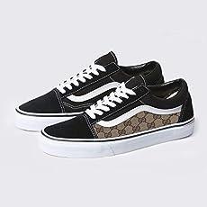 09d445a2f648 Amazon.com  Vans Old Skool x LV Custom Handmade Uni-Sex Shoes By ...