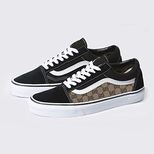 Vans Old Skool x GG Pattern Custom Handmade Shoes By Patch Collection