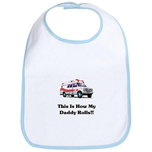 CafePress - Ambulance This Is How My Dadd Bib - Cute Cloth Baby Bib, Toddler Bib