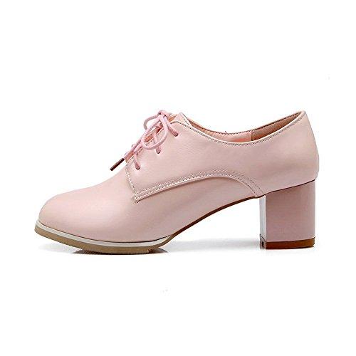 Balamasa Meisjes Stevige Hakken Geïmiteerd Lederen Pumps-schoenen Roze