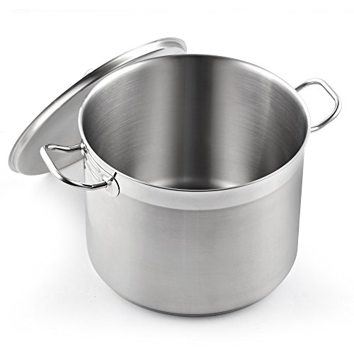 Cooks Standard NC-00330 Classic stockpot, 20 Quart, Stainless - Aluminum 16 Pot Quart Stock