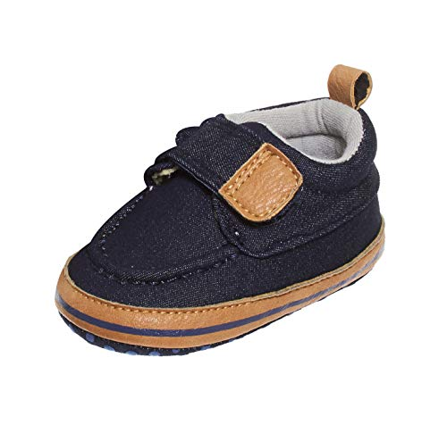 Barehugs Infant Baby Boys Navy Slip On Loafer Shoes With Strap Navy/Denim Age 0-3 Baby Boy Shoe Charm