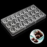 Jeteven Semi-Sphere Chocolate Mould PC Polycarbonate Chocolate Mold 24-Piece Tray