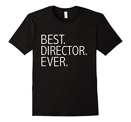 Mens Best Director Ever Funny T-shirt Film Movie Director Gift Large Black