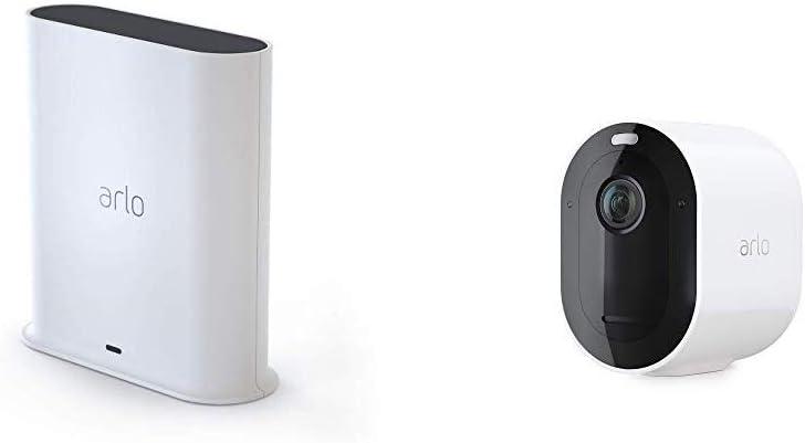 Arlo Pro 3. Sistema de cámara de seguridad sin cable 2 | 2K con HDR, interior/exterior, visión nocturna de color, foco, visión de 160°, audio de 2 vías, Sirena, funciona con Alexa | (VMS4240P)
