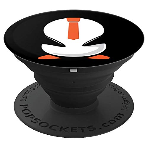Funny Penguin Costume Art - Hilarious Halloween Gift tee - PopSockets Grip and Stand for Phones and Tablets ()