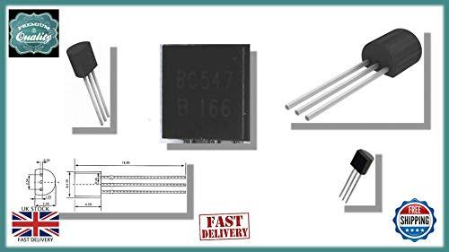 Sconosciuto 20 x Transistor bipolare BC547 BC547B BJT NPN Singolo 45V 100mA 300MHz 500mW 200hFE TO-92