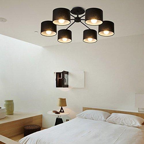BLYC- Nordischen Stil Stoff Leuchten moderne minimalistische Mode koreanischen Wohnzimmer Schlafzimmer Esszimmer 6 Deckenleuchten Deckenleuchte 850mm
