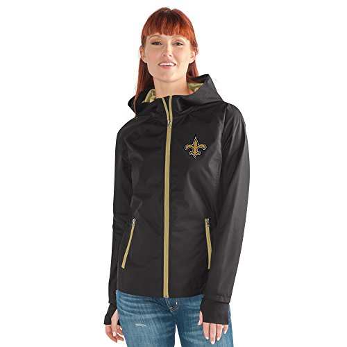 NFL New Orleans Saints Women's Onside Kick Light Weight Full Zip Jacket, XX-Large, - Orleans Shopping New In Centers