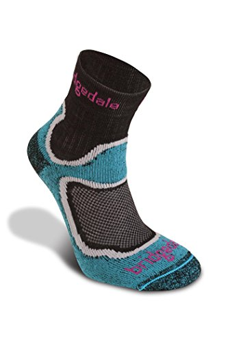Bridgedale Women's Coolmax Lightweight T2 Trail Sport - Merino Cool Socks, Turquoise, Medium ()