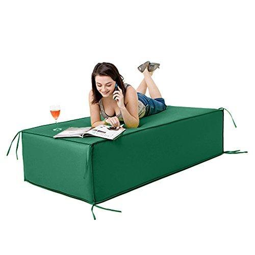 Wasserfest Außen Garten Block-bestuhlung Gartenmöbel Liegestuhl, Erhältlich in 6 Farben und 2 Größen - Grün, Large