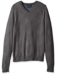Men's 100% Premium Cashmere V-Neck Sweater