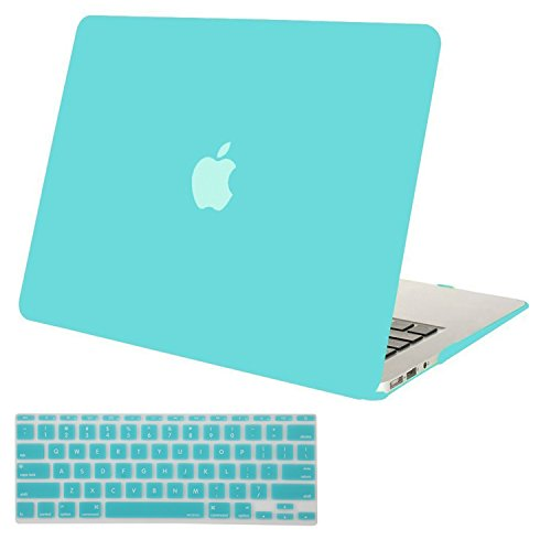 Mosiso Plastic Hard Shell Case with Keyboard Cover for MacBook Air 11 Inch (Models: A1370 and A1465), Turquoise