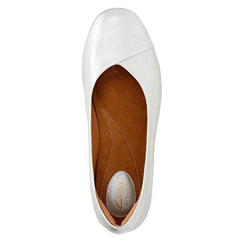 Clarks Silver Fest Women's Flat Leather Feature Ballet 6U76gwWrq