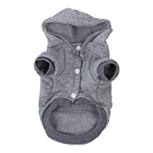 SODIAL(R) Cat Dog Clothes Winter Warm Knitwear for Christmas Puppy Dog Jacket Hooded Coat Clothing (Gray, XS)