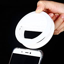 Aipinvip Selfie Ring Light 3-Level Brightness LED Clip Portable Diva Ring Light for Video and Selfie Photos Fill Light for iPhone Samsung Galaxy and Other SmartPhones