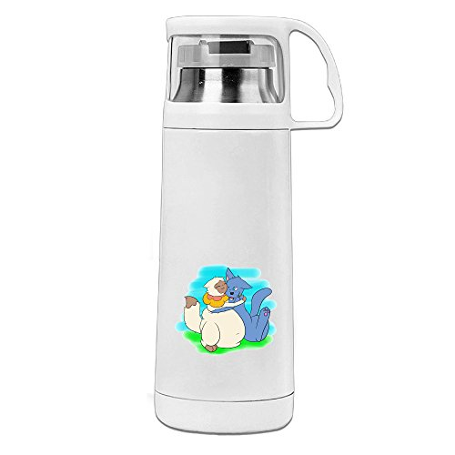 Beauty Sagwa Drink Bottle With A Handle Vacuum Insulated Cup For Hot And Cold Drinks Coffee,Tea Travel Thermal Mug,14oz White