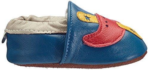 Free Fisher MY0013 - Suaves zapatos de cuero para bebé, talla S, color negro