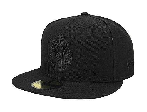 74c66b086f37f New Era 59Fifty Hat Chivas De Guadalajara Liga MX Soccer Black Black Fitted  Cap