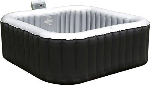 Aufblasbarer Whirlpool Spa 158x158cm mit Heizfunktion, für 4 Personen - Selbstaufblasend