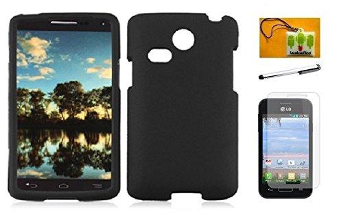 - LG L15G Sunrise / L16C Lucky (Net 10, Straighttalk), LF 4 in 1 Bundle, Hard Cover Case, Stylus Pen, Screen Protector & Droid Wiper Accessory (Hard Black)