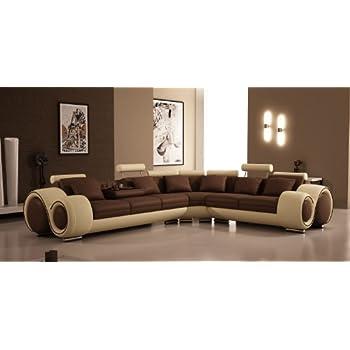 Amazon.com: TOSH Furniture Franco Sectional Sofa: Kitchen ...
