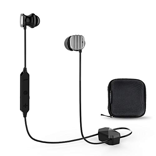 COWIN HE8 Bluetooth Wireless Headphones In-Ear Buds Headphones with Microphones Hi-Fi Deep Bass Wireless Headset Active Noise Cancelling Earbuds Sports Earphones for Workout Running Gym-Silver