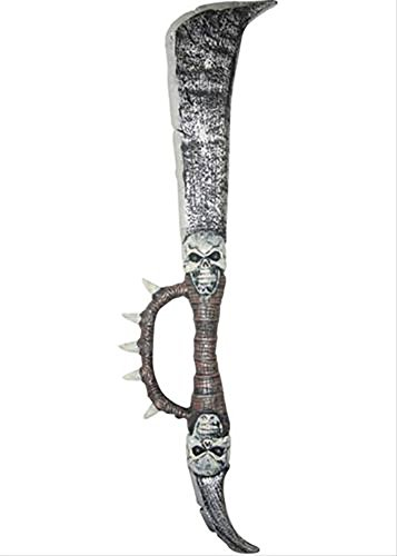 [Spiked Skull Sword Medieval Toy Weapon Dress Up Halloween Costume Accessory] (Elvira Plus Size Costumes)