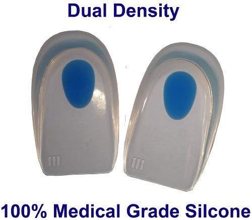 SturdyFoot Silicona Gel Almohadillas De Tal/ón//Compresas 100/% Silicona De Uso M/édico