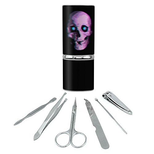 Stereoscopic Skull 3D Stainless Steel Manicure Pedicure Grooming Beauty Care Travel Kit (Freak Steel Kit Stainless)