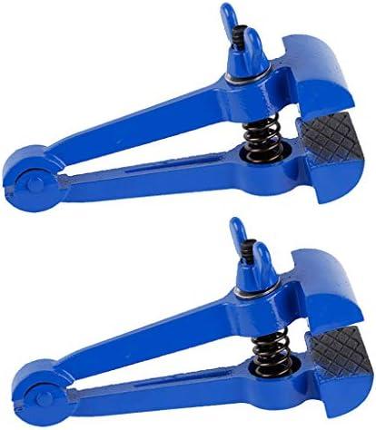 ハンドバイス 手持ち型 万力 DIY工芸品 手芸ツール ブルー 2個セット