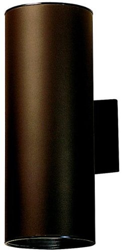 (Kichler 9246AZ Outdoor Cylinder Wall Mount Sconce UpLight Downlight, Bronze 2-Light (6