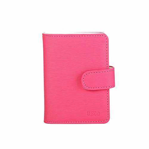 UHOO Soft Leather Business Name Card Holder Book with Card Slots Credit Card Holder - Micheal Store Kor