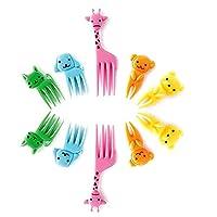 Auveach Bento Kawaii Animal Food Fruit Picks Forks Lunch Box Accessory Decor Tool 10pcs