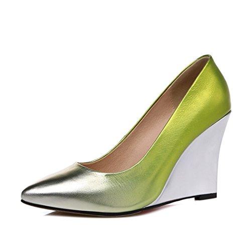 Casuales De Green Moda Alto dede Sandalette Alto Cómodos Tacon Zapatos xXv1a