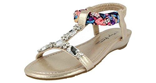 Foster Sandales Femme Footwear Doré pour zSrzqRw14x