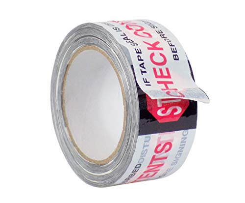 WOD PP20S-C Printed Clear Carton Sealing Tape with Red & Black Lettering -