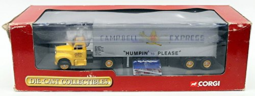 Corgi Appx 30cm Long Model Truck 53502 - Mack B Series Semi Container - Campbell