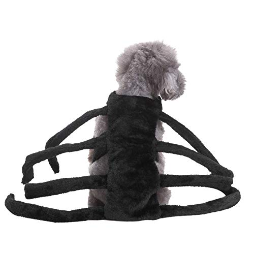 (Naladoo Pet Spider Harness Costume Dog Cat Halloween Fancy Dress Costume)