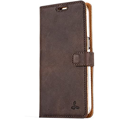 Snakehive Vintage Collection Samsung Galaxy S7 Edge Wallet Case in Nubuck Leather with Credit Card / Note slot (Chestnut Brown) Sales